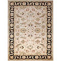 Hand-tufted Beige Wool Area Rug (4' x 8')