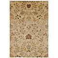 Hand-Tufted Beige/ Brown Floral Wool Area Rug (9'6 x 13'6)