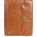 Zeyner Cognac Leather Folio Jotter