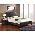 Flare Eastern King Size Brown Bonded Leather Sleigh Bed