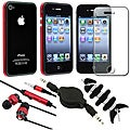 BasAcc Red Case/ Protector/ Headset/ Wrap/ Cable for Apple iPhone 4S