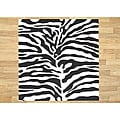 Alliyah Handmade Safari Black New Zealand Blend Wool Rug (6' Square)