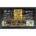 Highland Mint Boston Bruins 2011 Stanley Cup Banner Raising Signature Framed Photo
