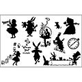 Wonderland Silouettes Rubber Stamp Set