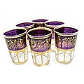 Set of 6 Mek Purple Tea Glasses (Morocco)