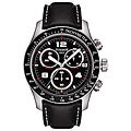 Tissot Men's 'V8' Black Chronograph Dial Watch