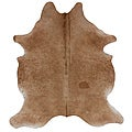 Hand-picked Brazilian Solid Natural Cowhide Rug (5&#39; x 7&#39;)