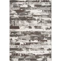 Meticulously Woven Black Streyay Abstract Rug (7&#39;10 x 10&#39;)