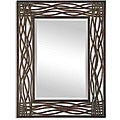 Dorigrass Distressed Mocha Rustic Metal Framed Mirror