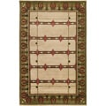 Hand-knotted Beige Novelty Identity New Zealand Wool Rug (8' x 11')