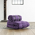 Fresh Futon 'Buckle Up' Purple Futon Chair
