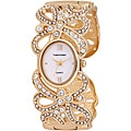 Vernier Woman's V1112 Sparkle Ribbon Bangle Watch
