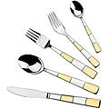 Lorren Home Trends  Retro Gold 18/10 20 piece flatware set