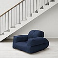 Navy Blue Fresh Futon Hippo