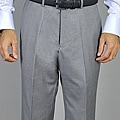 Giorgio Fiorelli Men&#39;s Light Gray Flat Front Pants