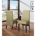 Sleigh Back Green Parsons Chair (Set of 2)