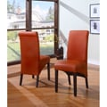 Sleigh Back Orange Parsons Chair (Set of 2)