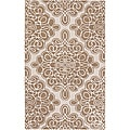 Candice Olson Hand-tufted Cream Coburg Geometric Pattern Wool Rug (2'6 x 8')