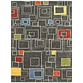 Hand-tufted Grey Wool Rug (5' x 8')