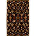 Hand-tufted Coffee Wool Rug (5' x 8')
