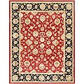 Hand-tufted Red/ Brown Wool Rug (2' x 3')