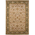 Hand-tufted Ivory/ Green Wool Rug (2' x 3')