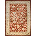 Hand-tufted Ivory/ Orange Wool Rug (2' x 3')
