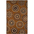 Hand-tufted Brown/ Black Wool Rug (2&#39; x 3&#39;)