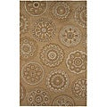 Hand-tufted Brown/ Beige Wool Rug (2&#39; x 3&#39;)