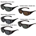 Hot Optix Men&#39;s Polarized Over-the-Glass Wrap Sunglasses