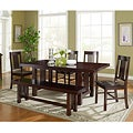 6-Piece Cappuccino Solid Wood Dining Set