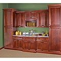 Cherry Stain/ Chocolate Glaze Wall Microwave Cabinet