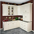 Wall Mullion Door Antique White Cabinet