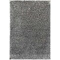 Hand-woven Grey Wool-blend Shag Rug (5' x 8')