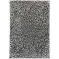 Hand-woven Grey Wool-blend Shag Rug (8' x 10')