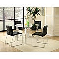 Enitial Lab Donnabella 5-piece Chrome-plated Steel Dining Set