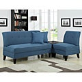 Portfolio Engle Caribbean Blue Linen 3-piece Sofa Set