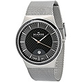 Skagen Men's Carbon Fiber Dial Stainless Steel Watch