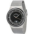 Skagen Men&#39;s Carbon Fiber Dial Stainless Steel Watch