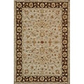 Hand-tufted Goa Brown Oriental Wool Rug (2' x 3')