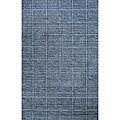 Hand-loomed Loft Denim Blue Wool Rug (2' x 3')