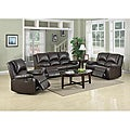 Patricia Dark Brown Reclining Sofa Set