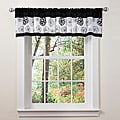 Lush Decor Black/ White Covina Valance