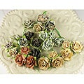 Printery Avon Rose Mulberry Paper Flowers (Pack of 24)
