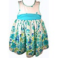 Good Lad Girl's Blue White Floral Print Dress