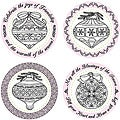 Justrite 'Christmas Ornaments' 8-piece Stampers Original Stamp Sets
