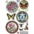 JustRite 'Botanical Butterflies' 14-piece Stampers Clear Stamp Set
