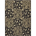Tufted Sisal Printed Indoor/ Outdoor Chocolate Blocks Rug (5&#39; x 7&#39;)