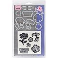 Sizzix Framelits Floral Dies With Clear Stamps (Pack of 6)