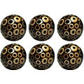Red Vanilla 4-inch Black Ring Decorative Nature Spheres (Set of 6)